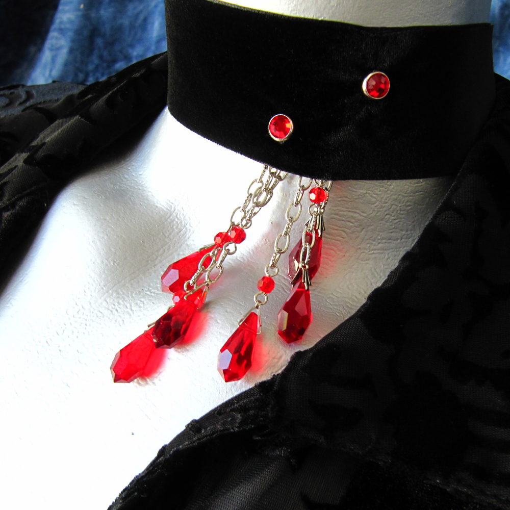 Vampire Bite Choker Necklace